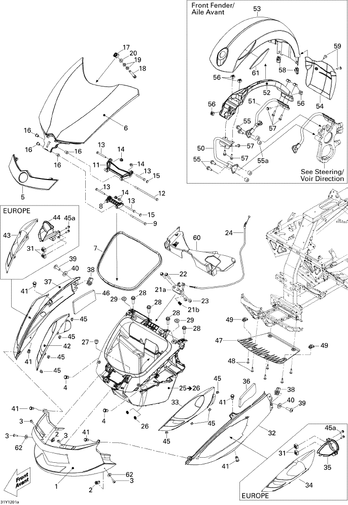 Carrosserie Et Accessoires Avant